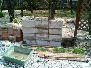 DIY・ガーデニング 壁泉のブロック